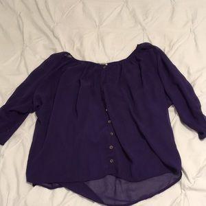 Nordstrom Rack Silky Purple Blouse